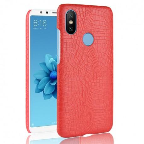 Coque Xiaomi Redmi S2 Croco Cuir Rouge
