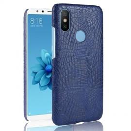 Coque Xiaomi Redmi S2 Croco Cuir Bleu
