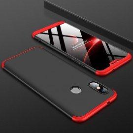 Coque 360 Xiaomi Mi A2 Lite Noir et Rouge