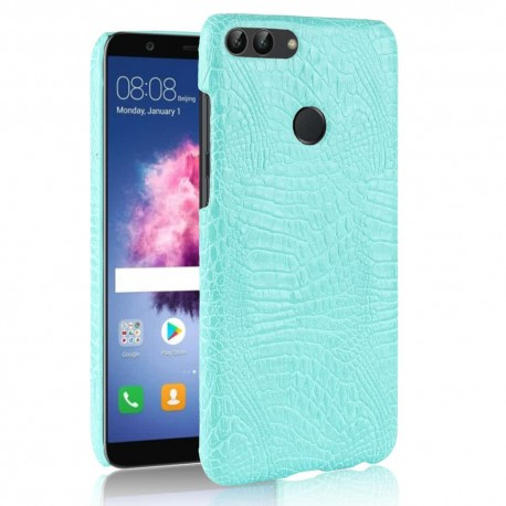 Coque Huawei P Smart Cuir Turquoise