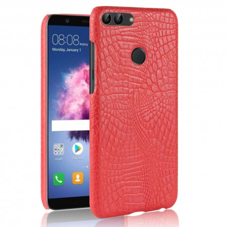 Coque Huawei P Smart Cuir Rouge