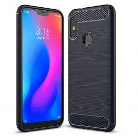Coque Silicone Xiaomi MI A2 Lite Brossé Bleu