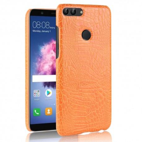 Coque Huawei P Smart Cuir Orange