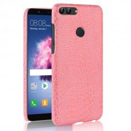 Coque Huawei P Smart Cuir Rose