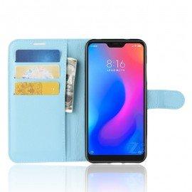 Etuis Portefeuille Xiaomi MI A2 Lite Simili Cuir Bleu
