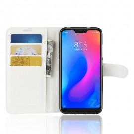 Etuis Portefeuille Xiaomi MI A2 Lite Simili Cuir Blanc