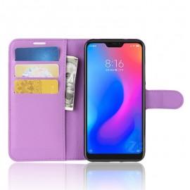 Etuis Portefeuille Xiaomi MI A2 Lite Simili Cuir Lila