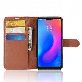 Etuis Portefeuille Xiaomi MI A2 Lite Simili Cuir Marron