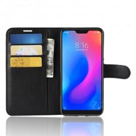 Etuis Portefeuille Xiaomi MI A2 Lite Simili Cuir Noir