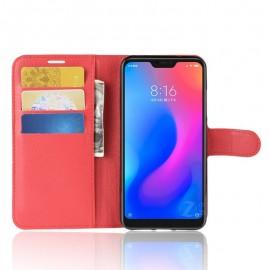 Etuis Portefeuille Xiaomi MI A2 Lite Simili Cuir Rouge