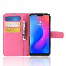 Etuis Portefeuille Xiaomi MI A2 Lite Simili Cuir Rose