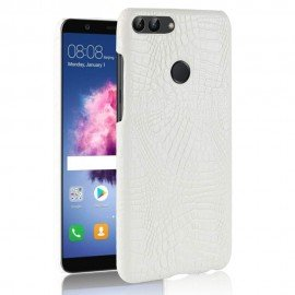 Coque Huawei P Smart Cuir Blanc