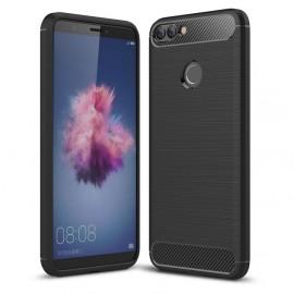 Coque Silicone Huawei P Smart Brossé Noir