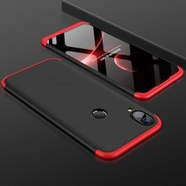 Coque 360 Huawei P Smart Plus Rouge et Noir