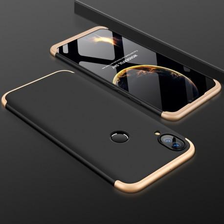 Coque 360 Huawei P Smart Plus Noir et Or