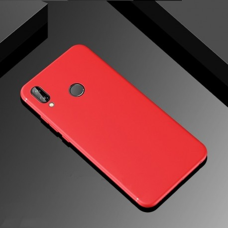 Coque Silicone Huawei P Smart Plus Extra Fine Rouge