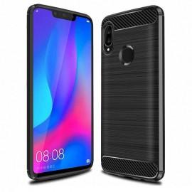 Coque Silicone Huawei P Smart Plus Brossé Noir