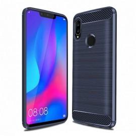 Coque Silicone Huawei P Smart Plus Brossé Bleu