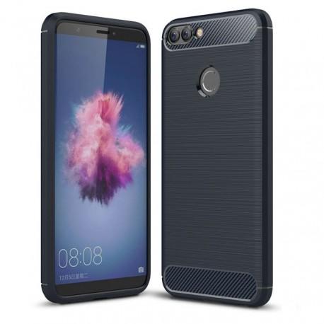 Coque Silicone Huawei P Smart Brossé Bleu
