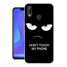 Coque Silicone Huawei P Smart Plus Faché