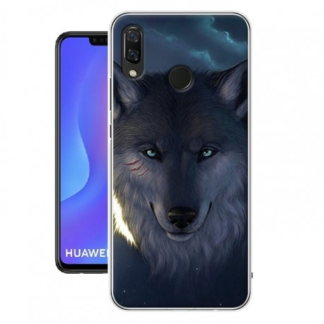 Coque Silicone Huawei P Smart Plus Loup