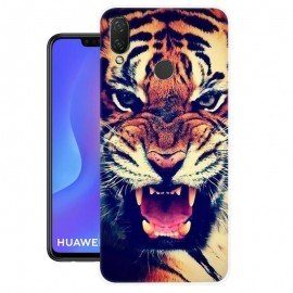 Coque Silicone Huawei P Smart Plus Tigre
