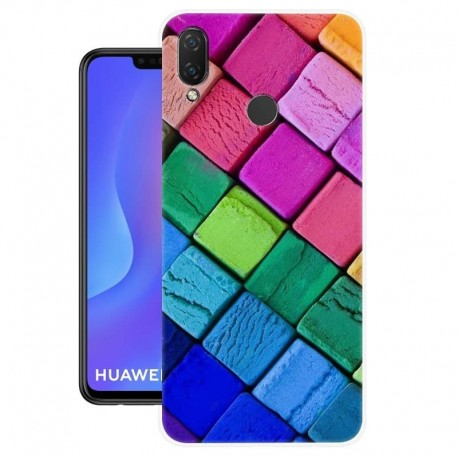 Coque Silicone Huawei P Smart Plus Cubes