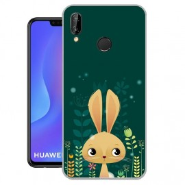 Coque Silicone Huawei P Smart Plus Lapin
