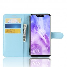 Etuis Portefeuille Huawei P Smart Plus Simili Cuir Bleu