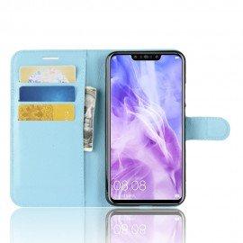 Etuis Portefeuille Huawei P Smart Plus Simili Cuir Bleu
