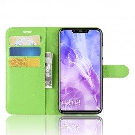 Etuis Portefeuille Huawei P Smart Plus Simili Cuir Vert