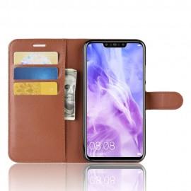 Etuis Portefeuille Huawei P Smart Plus Simili Cuir Marron