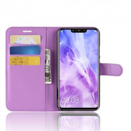 Etuis Portefeuille Huawei P Smart Plus Simili Cuir Lila