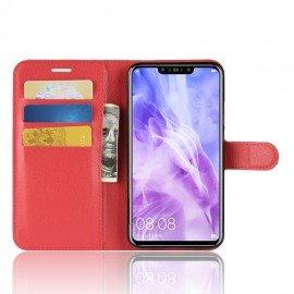Etuis Portefeuille Huawei P Smart Plus Simili Cuir Rouge