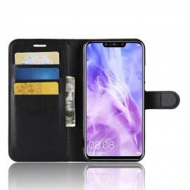 Etuis Portefeuille Huawei P Smart Plus Simili Cuir Noir