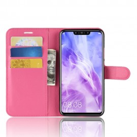Etuis Portefeuille Huawei P Smart Plus Simili Cuir Rose