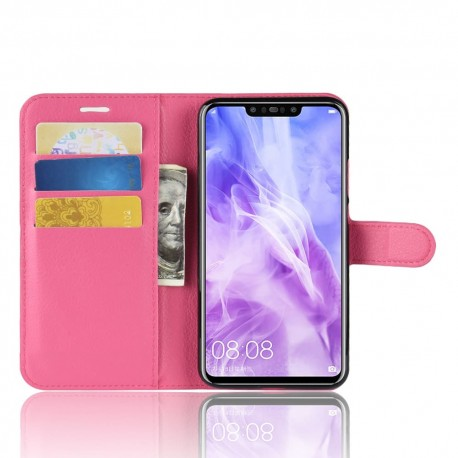 Etuis Portefeuille Huawei P Smart Plus Simili Cuir Rose