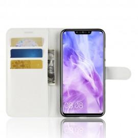 Etuis Portefeuille Huawei P Smart Plus Simili Cuir Blanc