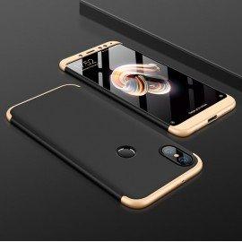 Coque 360 Xiaomi Mi A2 Noir et Or