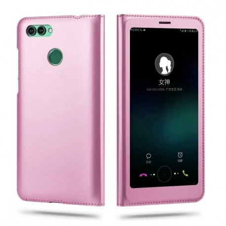 Etuis Portefeuille Huawei P Smart Cover Vision Rose