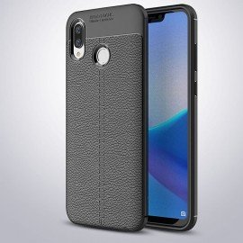 Coque Silicone Honor Play Cuir 3D Noir