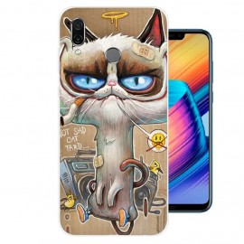 Coque Silicone Honor Play Vilain Chat