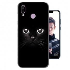 Coque Silicone Honor Play Chat Noir