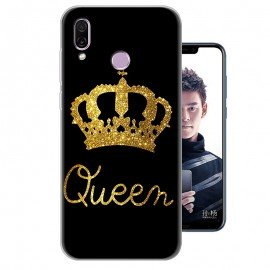 Coque Silicone Honor Play Bling Queen