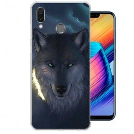 Coque Silicone Honor Play Loup