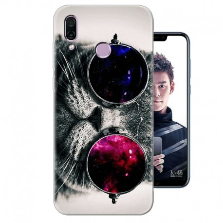 Coque Silicone Honor Play Chat Cool