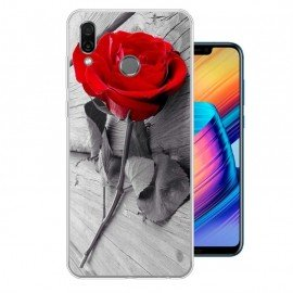Coque Silicone Honor Play Rose