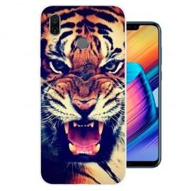 Coque Silicone Honor Play Tigre