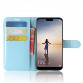 Etuis Portefeuille Huawei P20 Lite Simili Cuir Bleu