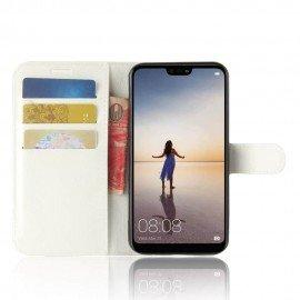 Etuis Portefeuille Huawei P20 Lite Simili Cuir Blanc